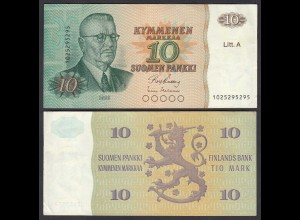 FINNLAND - FINLAND 10 MARKKA Litt. A 1980 PICK 112 XF- (2-) (26828