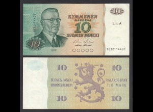FINNLAND - FINLAND 10 MARKKA Litt. A 1980 PICK 112 VF (3) (26829