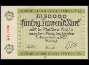 Bayern - 50.000 Mark Fürth Stadtgemeinde Notgeld 1923 (13837