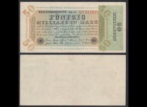 Reichsbanknote - 50 Milliarden Mark 1923 FZ: RS BZ: 19 Ro 117b VF+ (3+) (29001
