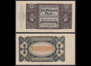 2 Millionen Mark 1923 Ro 89a Pick 89 XF (2) FZ: E - BZ: u (29005