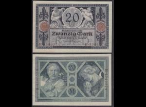 Reichsbanknote 20 Mark 1915 Ro 53 Pick 63 UDR: O Serie: H aUNC (1-) (29010