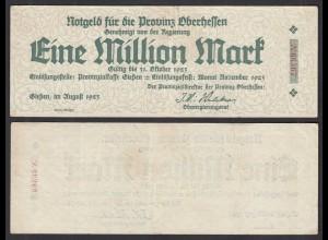Oberhessen Giessen - 1- Million Mark 1923 Privinzialkasse Notgeld (29028