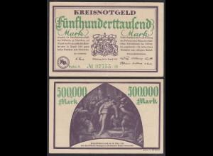 Hessen - Dillenburg 500-tausend Mark 1923 Kreisnotgeld Reihe A Starnote (29029