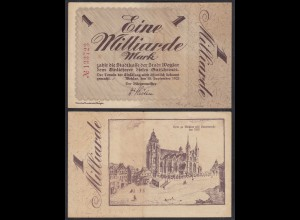 Hessen -Wetzlar 1-Milliarde Mark 1923 Stadtkasse Gutschein Notgeld (29030