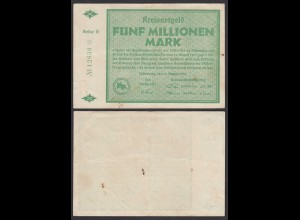 Hessen - Dillenburg 5-Million Mark 1923 Kreisnotgeld Reihe B Starnote (29033