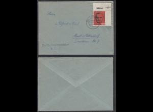 Berlin 1961 Hans Böckler 20 Pfg. ER OR Einzelfrankatur Bedarfsbrief (29046