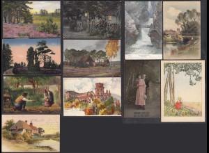 AK 11 Stück schöne Ansichtskarten mit Motive (27726