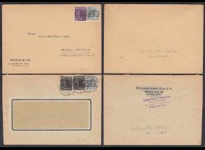 2 Stück Briefe Berlin Vorläufer geprüft Schlegel (65267