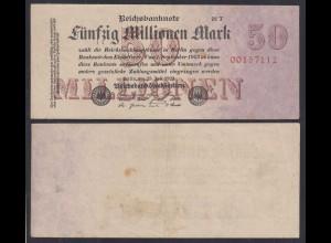 50 Millionen Mark 1923 Ro 97c Pick 98 FZ: T BZ: 21 W 8-stellig VF (3) (29068