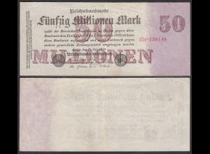 50 Millionen Mark 1923 Ro 97b Pick 98 FZ: P BZ: 25 6-stellig VF (3) (29069