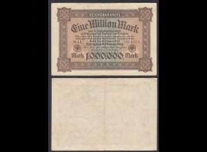 1 Million Mark 1923 Ro 85 Pick 86 FZ': LE BZ: N fast VF (3-) (29077