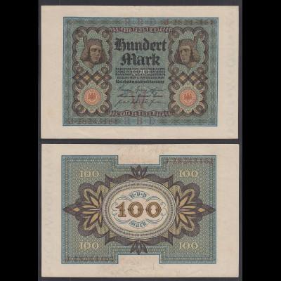 Reichsbanknote - 100 Mark 1920 UDR W Ro 67b Pick 69 VF (3) (29093