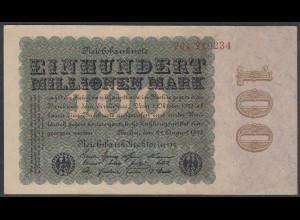 Reichsbanknote - 100 Million Mark 1923 Ro 106c FZ:K - BZ:26 - KN:219234 XF (2)