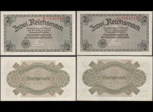 2 RM Reichskreditkasse 1939/44 Ro 552 a + b aUNC (1-) (29183