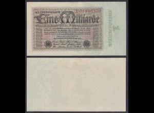 1 Milliarde Mark 1923 Ro 111a Pick 114 XF (2) Serie A (29216