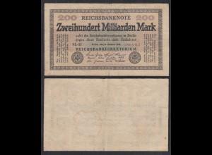 200 Milliarden Mark 1923 Ro 118c Pick 121 ca. F- (4-) FZ: VL BZ: 37 (29234
