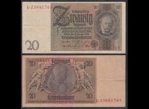 Deutschland - Germany 20 Reichsmark 1929 Ro 174a Pick 181 VF (3) Udr Z - Serie L