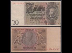 Deutschland - Germany 20 Reichsmark 1929 Ro 174a Pick 181 VF (3) Udr D - Serie T