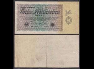10 Milliarden Mark Banknote 1923 Ro 113a Pick 116 F/VF (3/4) Serie B (29252