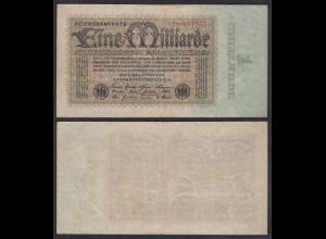 1 Milliarde Mark 1923 Ro 111b Pick 114 F (4) FZ: X BZ: 7 (29259