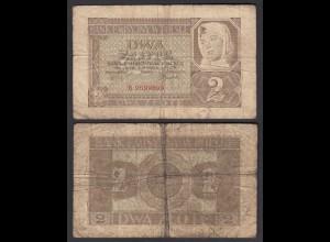 2 Złoty 1940 EMISSION BANK IN POLAND Deutsche Besatzung Ro 572 Pick 92 VG (5)