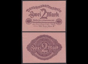 Darlehnskassenschein 2 MARK 1922 Ro 74 Pick 62 aUNC (1-) (29312