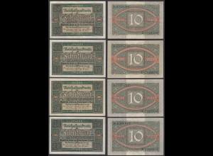 3 Stück á 20 Mark 1920 Ro 63a Pick 67 UDR: C,D,E,F Serie: L,N,L,U - ca. VF (3)
