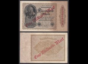 Reichsbanknote - 1 Milliarde Mark 1923 Ro 110b FZ: E BZ: 65 VF- (3-) (29344