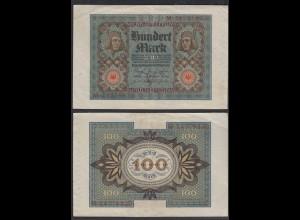 Reichsbanknote - 100 Mark 1920 UDR V Ro 67b Pick 69 VF (3) Serie M (29367