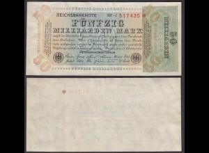 50 Milliarden Mark 1923 FZ: NF BZ: 7 Ro 117b fast XF (2-) Starnote (29392