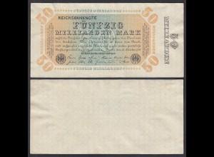 50 Milliarden Mark 1923 Firmendruck ohne KN ohne FZ Ro 116h VF+ (3+) (29393