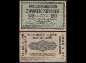 Besatzungsausgaben 1916 20 Kopeken Posen Ro 457 Pick R120 F (4) (29409