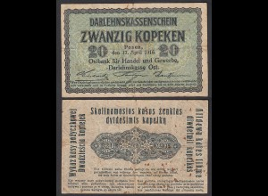 Besatzungsausgaben 1916 20 Kopeken Posen Ro 457 Pick R120 F (4) (29410
