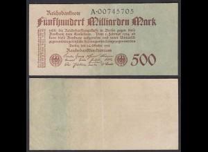 500 Milliarden Mark 1923 Ro 124b Pick 127 Serie A VF (3) (29414