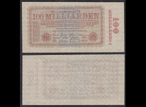 100-Milliarden Mark 1923 Ro 130a Pick 133 ca. XF (2) FZ: AS (29417