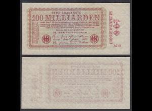 100-Milliarden Mark 1923 Ro 130a Pick 133 VF (3) FZ: AJ (29418