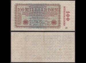 100-Milliarden Mark 1923 Ro 130b Pick 133 F (4) FZ: H (29419
