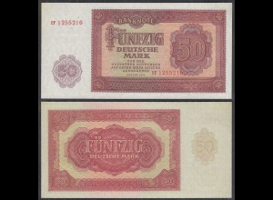 DDR 50 Mark Banknote 1955 Ro 352a Pick 20 UNC (1) Serie EF (29431