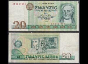 DDR 20 Mark Banknote 1975 Ro 362b Serie LM gebraucht (29458
