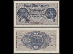 5 Reichsmark 1939-44 Reichskreditkassen Prefix Q 7-stellig Ro 553a UNC (1)