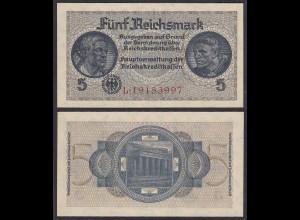 5 Reichsmark 1939-44 Reichskreditkassen Prefix L 8-stellig Ro 553b XF (2)