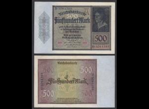 Germany 500 Mark 1922 Serie B 7-stellig Ro 70 Pick 73 VF+ (3+) (29492