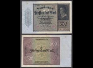 Germany 500 Mark 1922 Serie E 7-stellig Ro 70 Pick 73 VF (3) (29494
