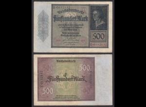 Germany 500 Mark 1922 Serie E 7-stellig Ro 70 Pick 73 F (4) (29495