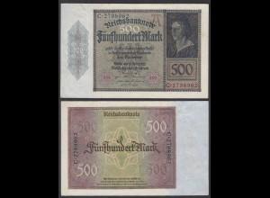 Germany 500 Mark 1922 Serie C 7-stellig Ro 70 Pick 73 VF (3) (29496