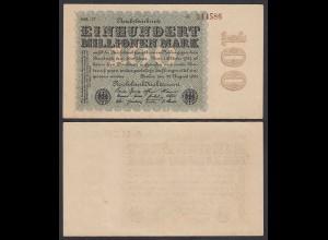 Ro 106v - 100 Million Mark 1923 Pick 107 FZ: MM - BZ: 37 XF (2) Star links