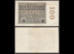 Ro 106t 100 Million Mark 1923 Pick 107 FZ: YZ - BZ: V VF (3) Star rechts orange
