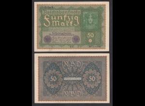 Ro 62d 50 Mark Reichsbanknote1919 Pick 66 Reihe 4 - IE i VF+ (3+) (29511