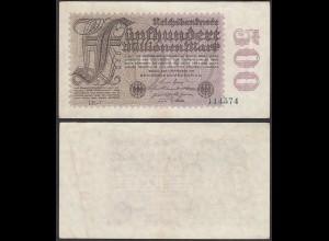 Ro 109f 500 Millionen Mark 1923 6-st. Pick 110e FZ: LE BZ: 1 - VF- (3-) (29526